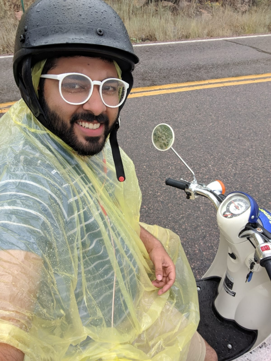 Myself in scooty